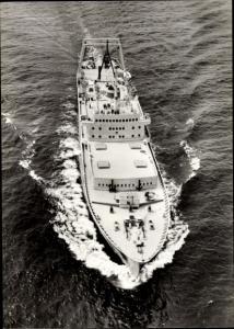 Ak Transport und Verarbeitungsschiff Junge Garde