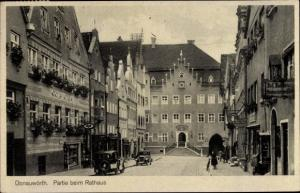 Ak Donauwörth in Schwaben, Partie beim Rathaus