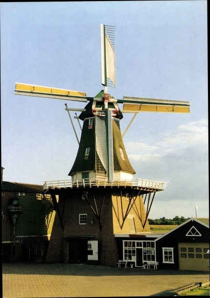Ak Vragender Gelderland Niederlande, Korenmolen De Vier Winden