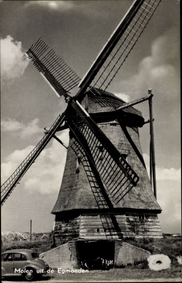 Ak Egmond aan Zee Niederlande, Molen, Windmühle