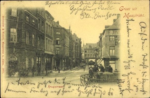 Ak Maastricht Limburg Niederlande, Rrugstraat
