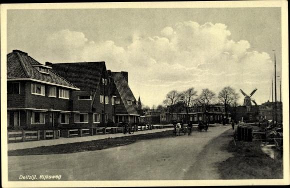 Ak Delfzijl Groningen Niederlande, Rijksweg, Windmühle 0