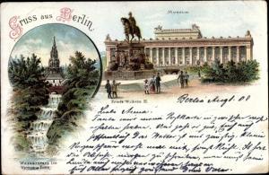 Litho Berlin, Museum, Wasserfall im Victoria Park, Denkmal