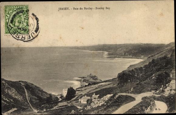 Ak Jersey Jersey Kanalinseln, Bouley Bay, Landschaft, Haus