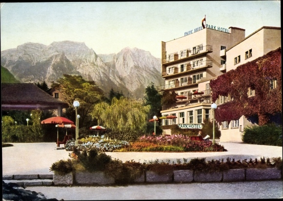 Ak Hall in Tirol, Parkhotel R. Hoskowetz, Welzenbacher Turmgebäude