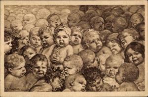 Künstler Ak Kaulbach, Friedrich August, Für Vaterlands Zukunft, Säuglingsschutz, Kleinkinderschutz