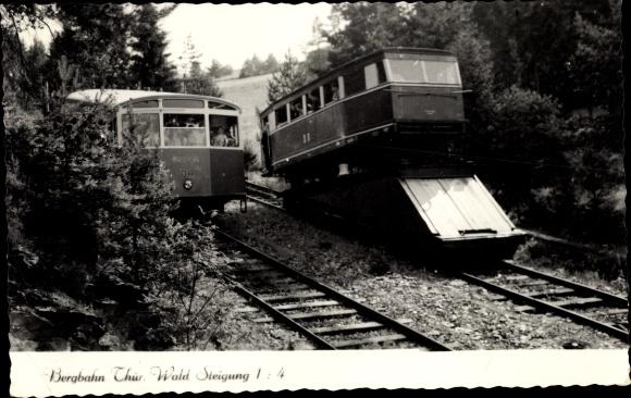 Ak Oberweißbacher Bergbahn, Thüringer Wald, Standseilbahn