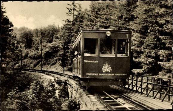 Ak Erdmannsdorf Augustusburg im Erzgebirge, Drahtseilbahn