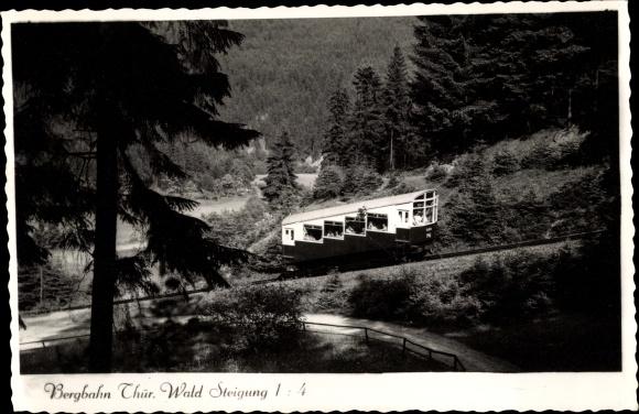 Ak Oberweißbach im Weißbachtal Thüringen, Oberweißbacher Bergbahn, Standseilbahn