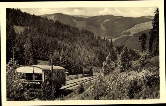 Ak Oberweißbach Thüringen, Oberweißbacher Bergbahn, Standseilbahn, Thüringer Wald