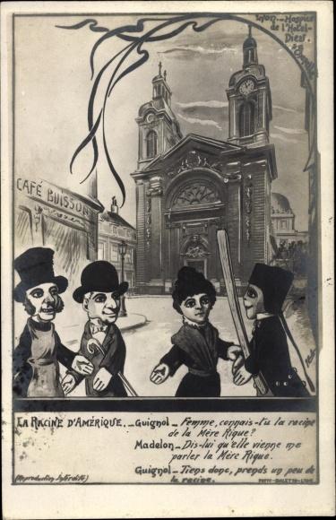 Künstler Ak La Racine d'Amérique, Puppentheater, Lyon Rhône
