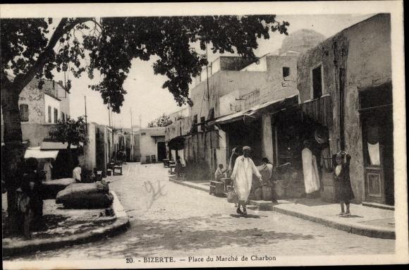 Ak Bizerte Tunesien, Place du marché de Charbon 0