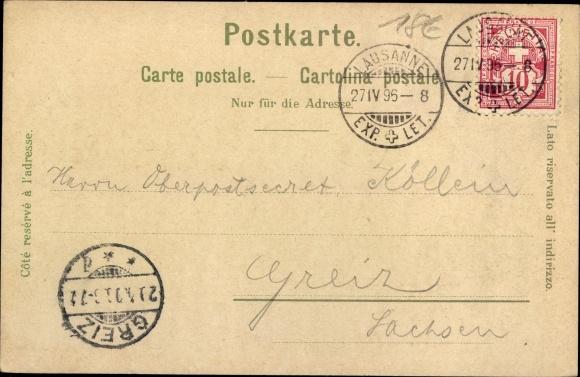 Litho Lausanne Kt. Waadt Schweiz, Barque du Lac, Tribunal Fédéral 1