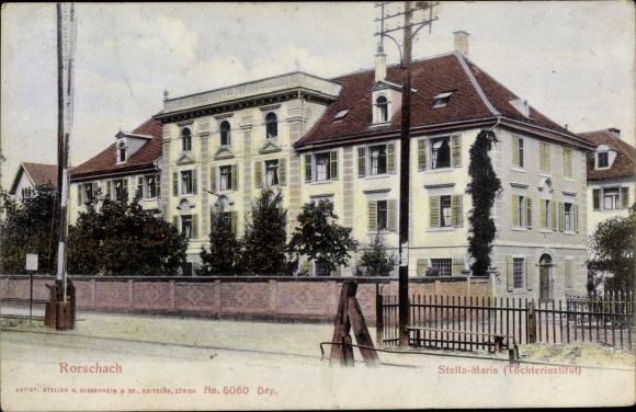 Ak Rorschach Kt. St. Gallen Schweiz, Stella Maris, Töchterinstitut