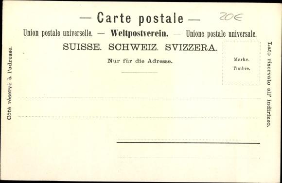 Ak St. Beatenberg Kt. Bern Schweiz, Pfarr- und katholische Kirche 1