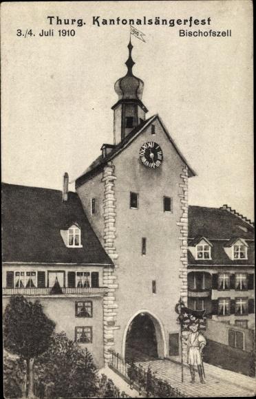 Ak Bischofszell Kt. Thurgau Schweiz, Thurgauer Kantonalsängerfest 1910