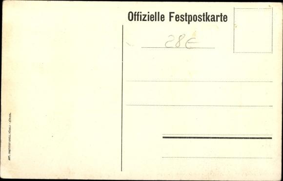 Ak Bischofszell Kt. Thurgau Schweiz, Thurgauer Kantonalsängerfest 1910 1