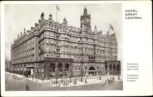 Ak London City, Hotel Great Central, Straßenansicht, Gebäudefassade