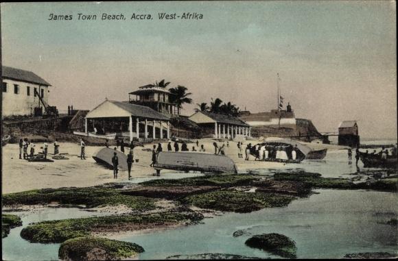 Ak Accra Ghana, James Town Beach, Strandpartie 0