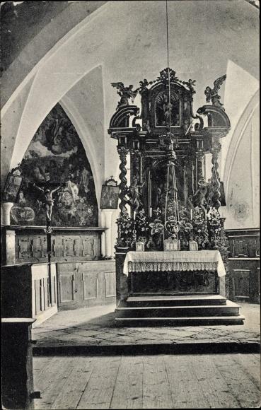 Ak St. Ulrich am Pillersee, Inneres der Kirche in St. Adolari