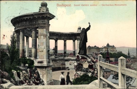 Ak Budapest Ungarn, Szent Gellért szobor, Gerhardus Monument