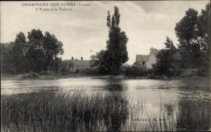 Ak Champigny sur Yonne, L'Yonne à la Tuilerie