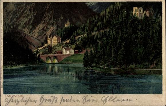 Künstler Litho Diemer, Zeno, Fernstein Nassereith Tirol, Burg