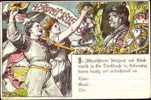 Vorläufer Ganzsachen Ak Otto von Bismarck, Herzog zu Lauenburg, Bundeskanzler, April 1895