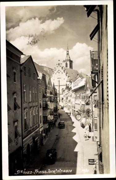 Ak Schwaz in Tirol, Franz Josef Straße