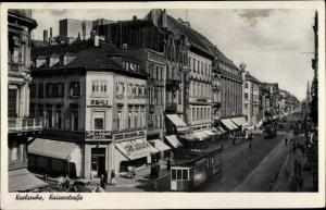 Ak Karlsruhe in Baden Württemberg, Kaiserstraße, Tram