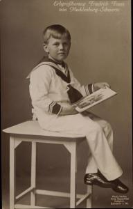Ak Erbgroßherzog Friedrich Franz von Mecklenburg-Schwerin
