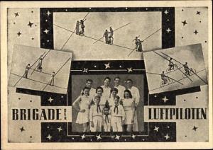 Ak Brigade der Luftpiloten, Zirkusartisten, Hochseilakt