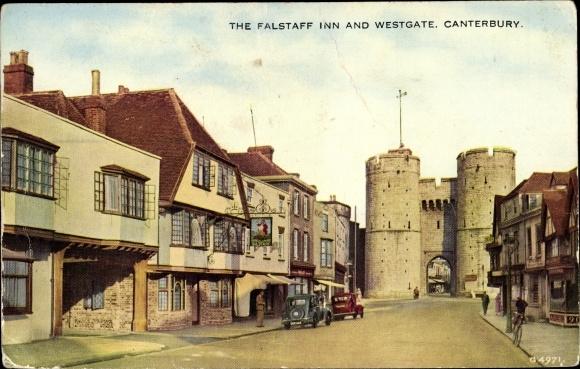 Ak Canterbury South East, The Falstaff Inn and Westgate