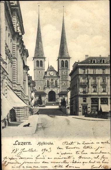 Ak Luzern Stadt Schweiz, Hofkirche