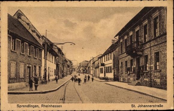 Ak Sprendlingen in Rheinhessen, St. Johannerstraße