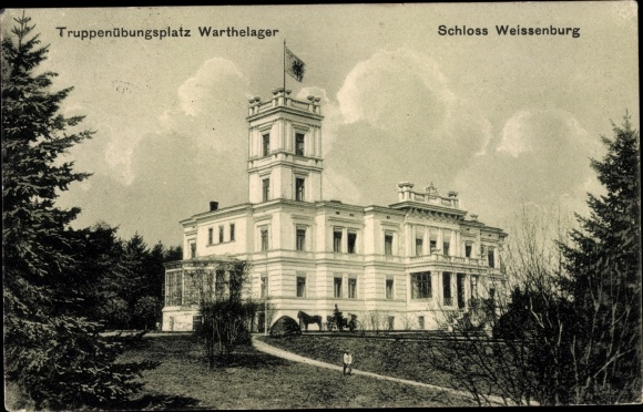 Ak Poznań Posen, Schloss Weißenburg, Truppenübungsplatz Warthelager