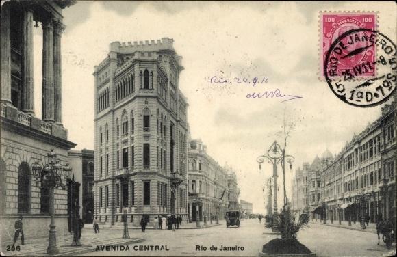 Ak Rio de Janeiro Brasilien, Avenida Central, Straßenpartie, Geschäfte, Passanten