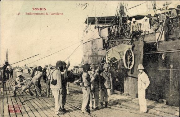 Ak Tonkin Vietnam, Embarquement de l'Artillerie