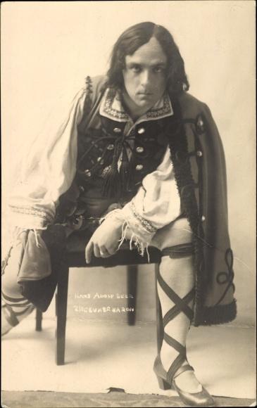 Ak Theaterschauspieler Hans Adolf Beer in seiner Rolle als Zigeunerbaron