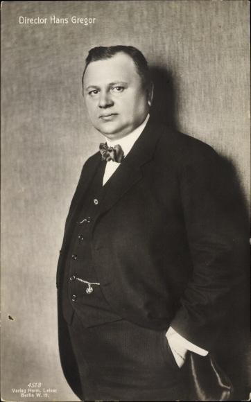 Ak Schauspieler Hans Gregor, Direktor, Portrait, Verlag Leiser Nr 4518