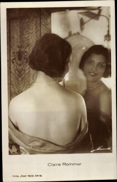 Ak Schauspielerin Claire Rommer, Portrait