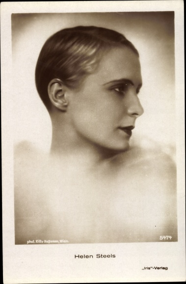 Ak Schauspielerin Helen Steels, Portrait