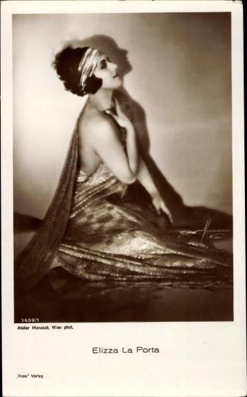 Ak Schauspielerin Elizza La Porta, Portrait