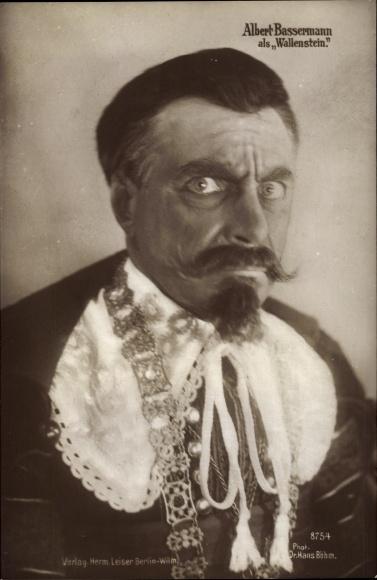 Ak Schauspieler Albert Bassermann als Wallenstein