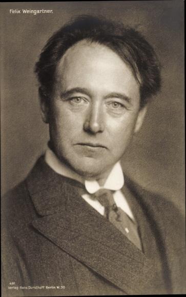 Ak Komponist Felix Weingartner, Portrait