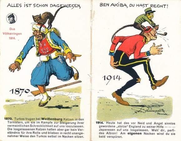 Klapp Ak Alles ist schon dagewesen, Das Völkerringen 1914, 1870 Türken, Weißenburg