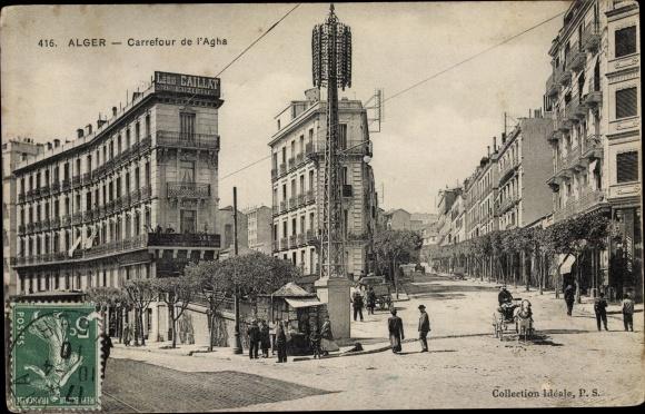 Ak Algier Alger Algerien, Carrefour de l'Agha