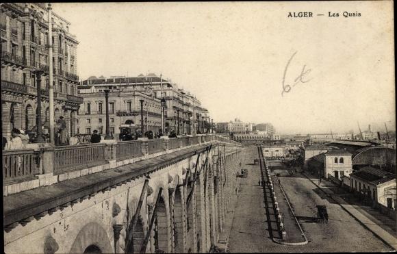 Ak Algier Alger Algerien, Les Quais