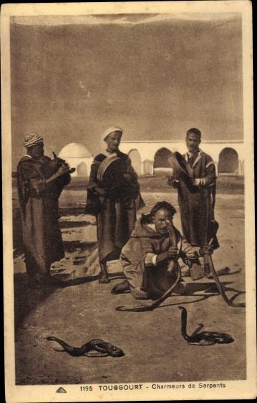 Ak Touggourt Algerien, Charmeurs de Serpents
