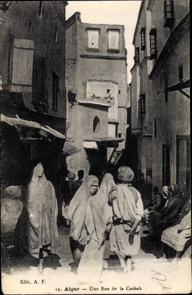Ak Algier Alger Algerien, Une Rue de la Casbah